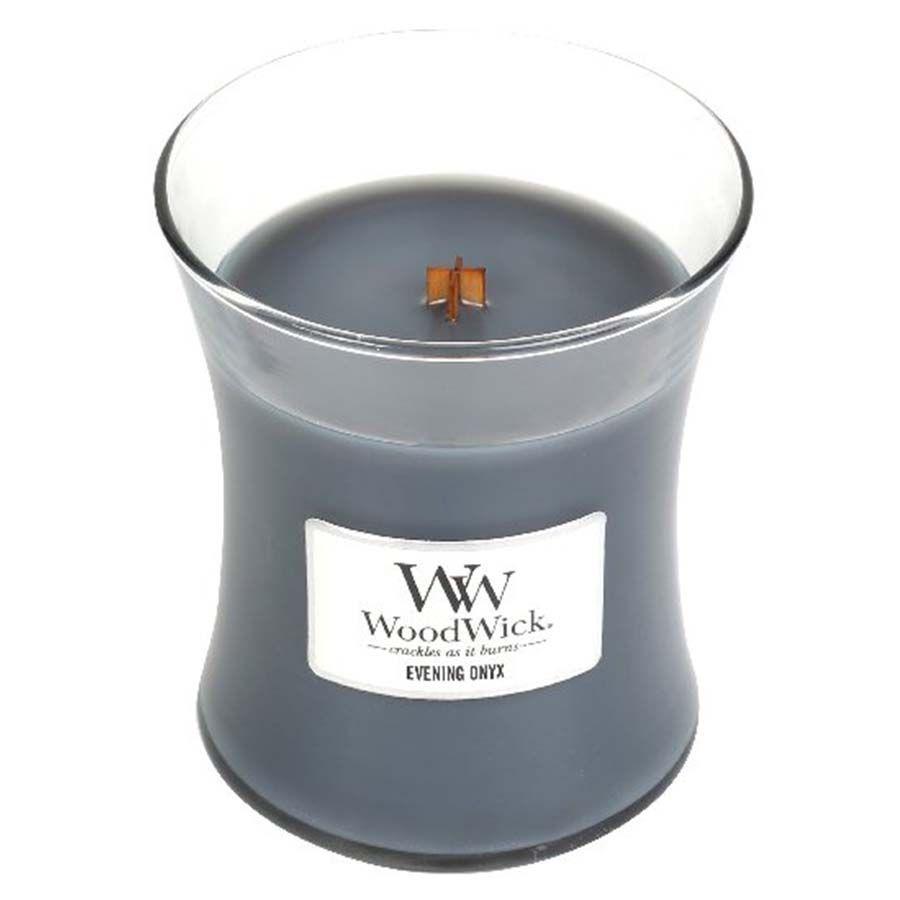 Woodwick WoodWick Evening Onyx svíčka váza střední