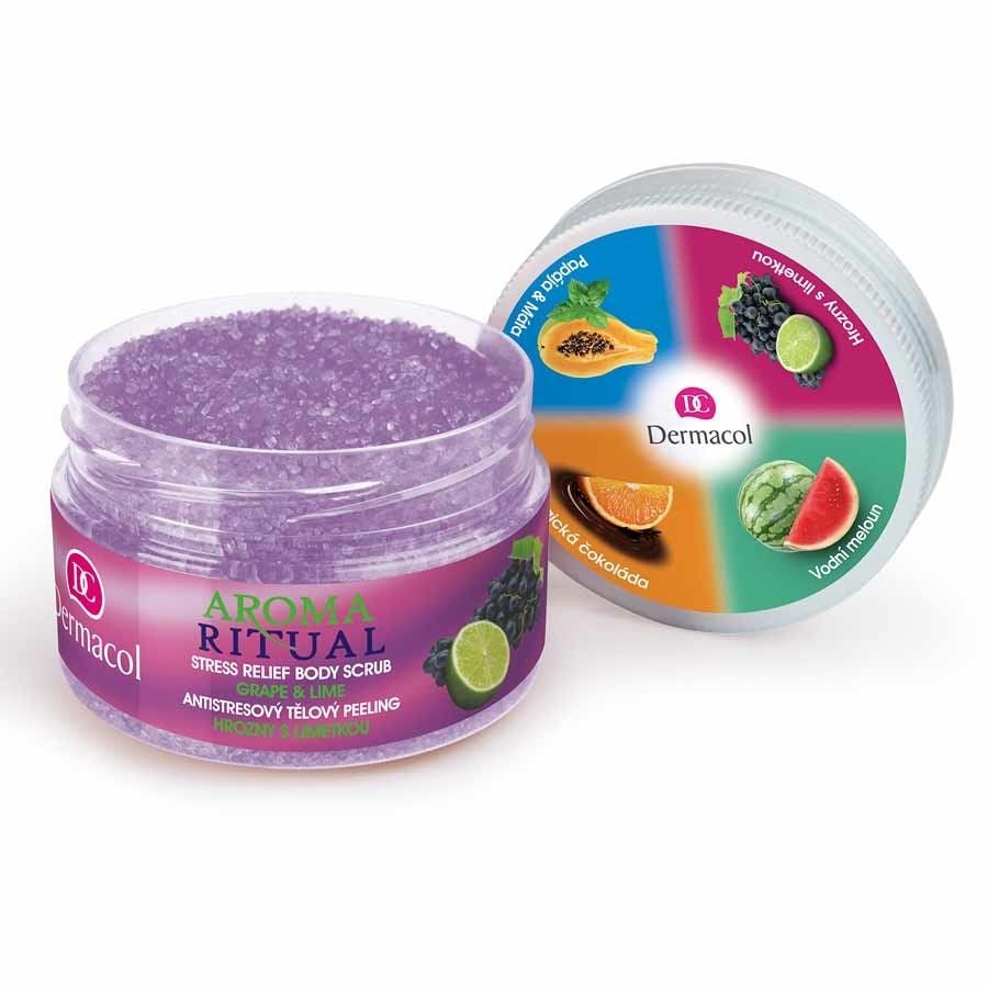Dermacol Aroma Ritual Stress Relief Body Scrub - Grape and Lime