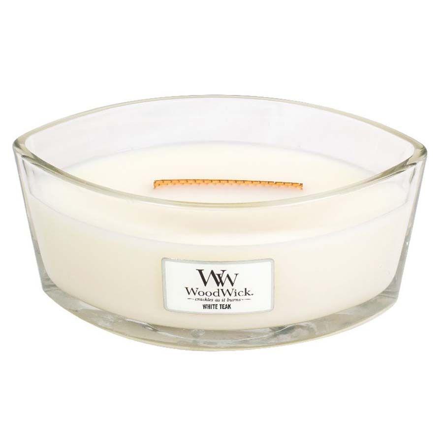 Woodwick WoodWick White Teak svíčka loď