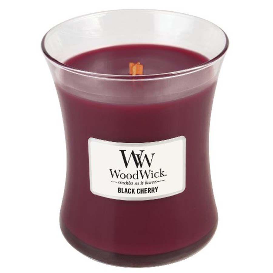 Woodwick WoodWick Black Cherry svíčka váza střední
