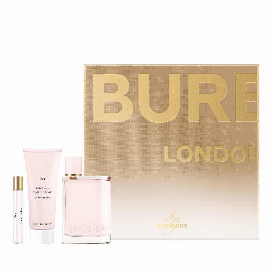 Burberry Burberry Her EDP 100ml + BODY LOTION 75ml + Travel Spray 7,5ml