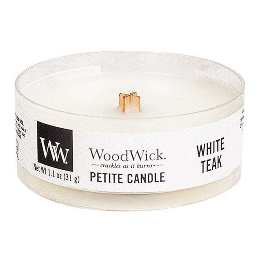 Woodwick Woodwick White Teak svíčka petite