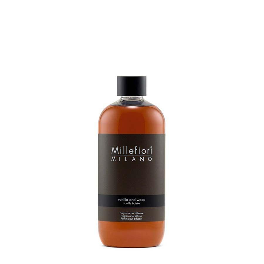 Millefiori Millefiori Natural Vanilla & Wood náplň pro aroma difuzér 500 ml