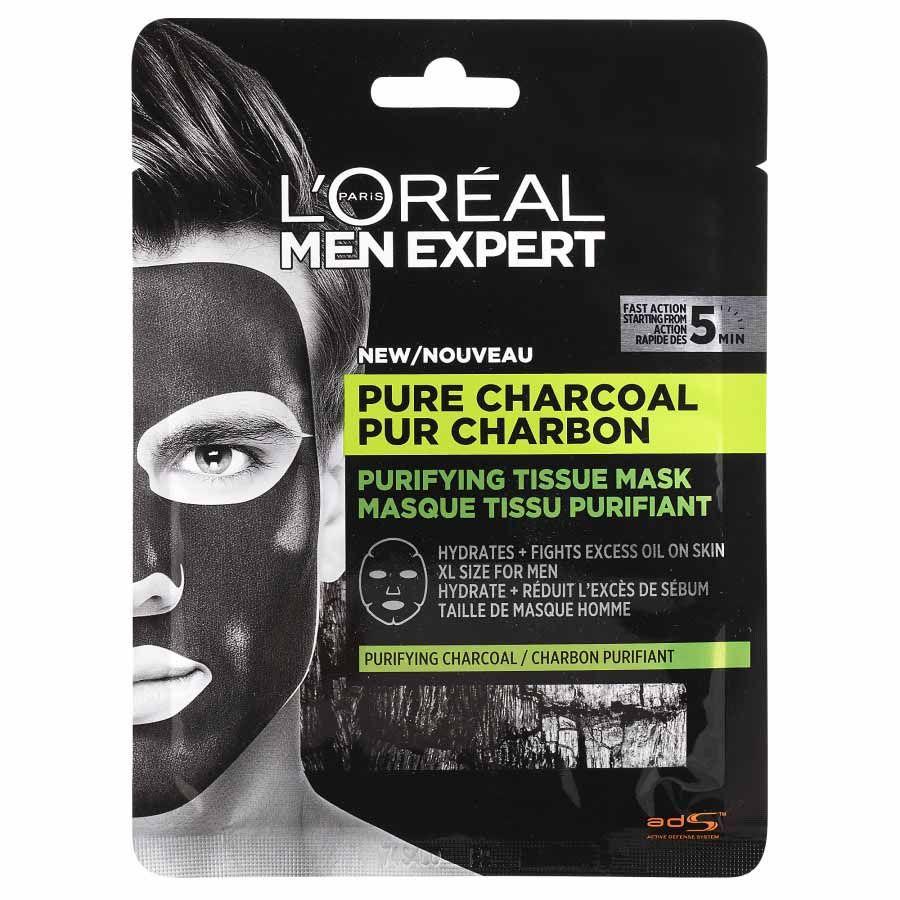 L´Oréal Paris Men Expert Pure Carbon textilní maska pro muže