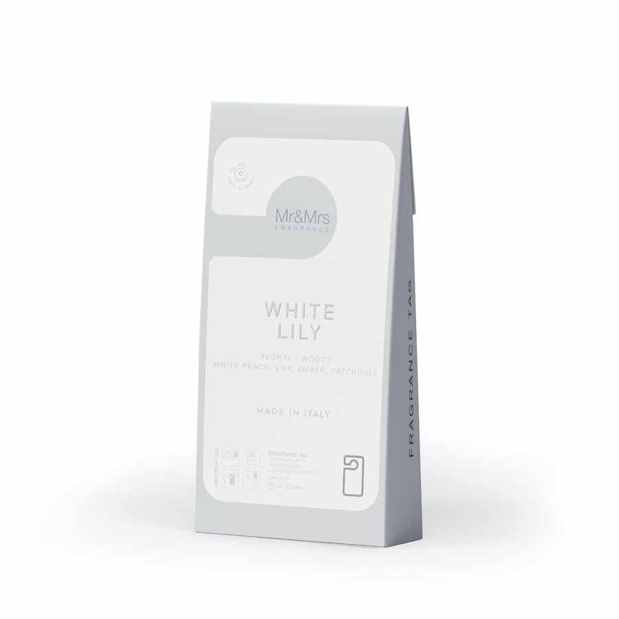 Mr & Mrs Fragrance Vonná Karta Miss Door, Biela - White Lily