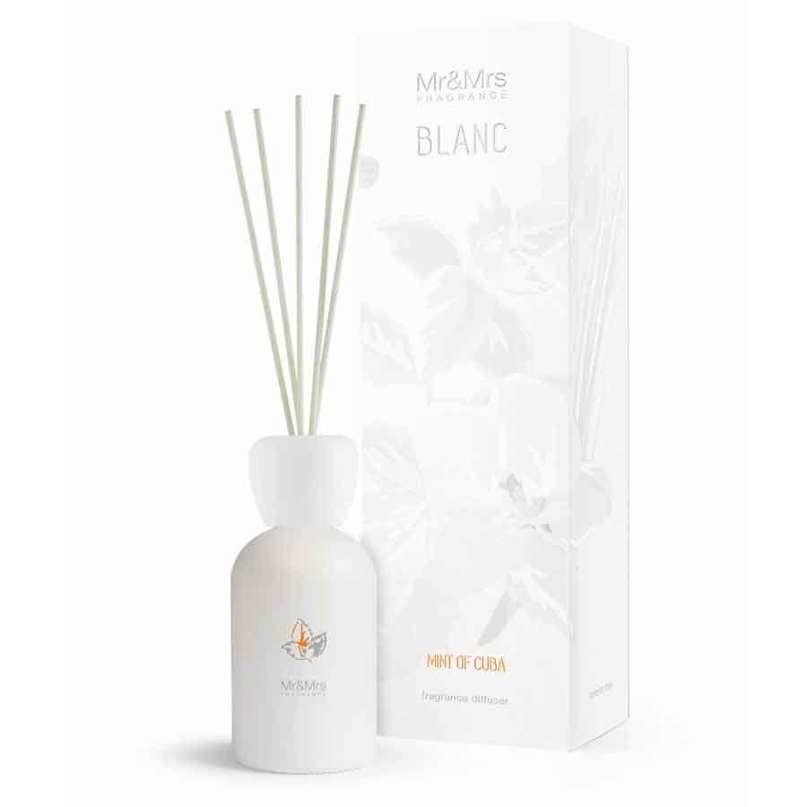 Mr & Mrs Fragrance Blanc Difuzér - Mint Of Cuba (Pomeranč A Máta)