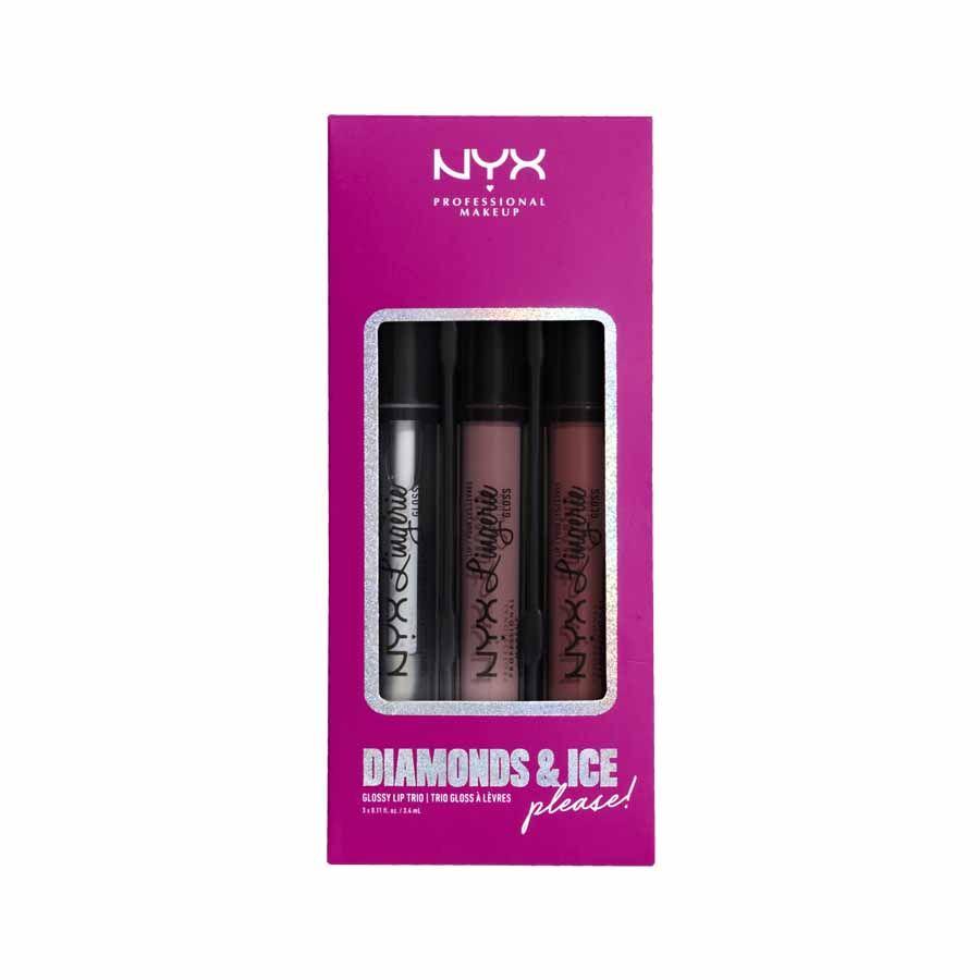 NYX Professional Makeup Diamonds&Ice Lip Lingerie Gloss Trio