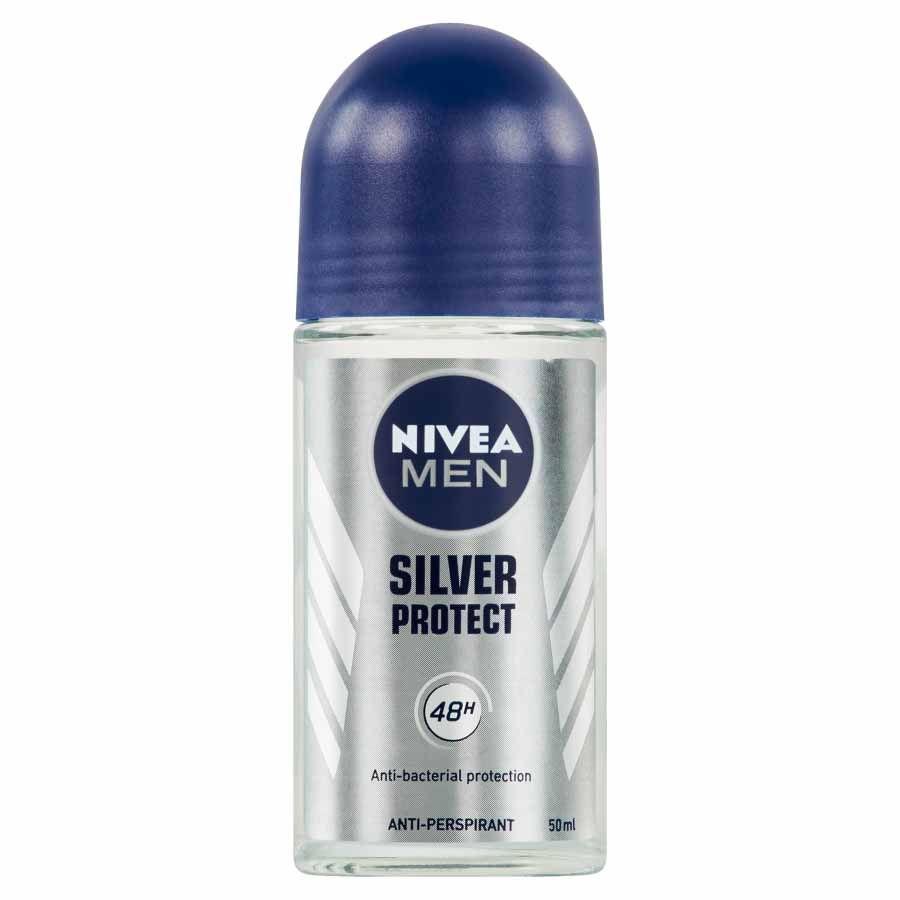 Nivea Nivea Men Guľôčkový antiperspirant Silver Protect