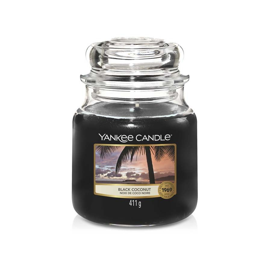 Yankee Candle Black Coconut vonná svíčka classic střední