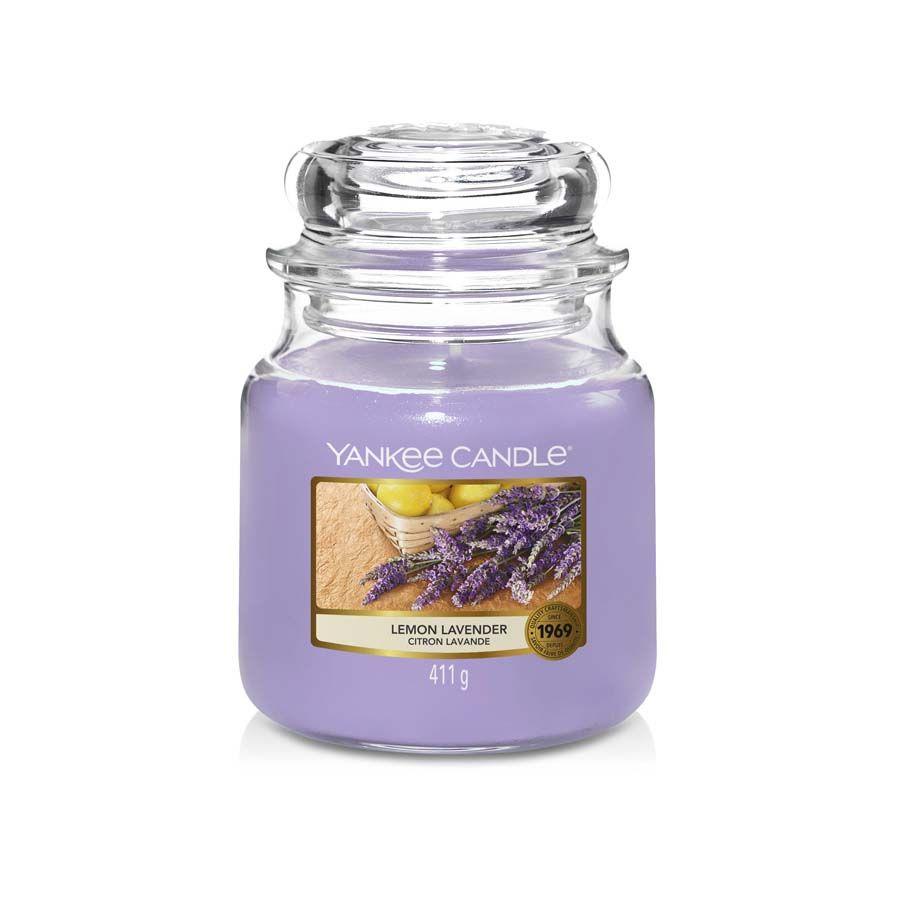 Yankee Candle Lemon Lavender vonná svíčka classic střední
