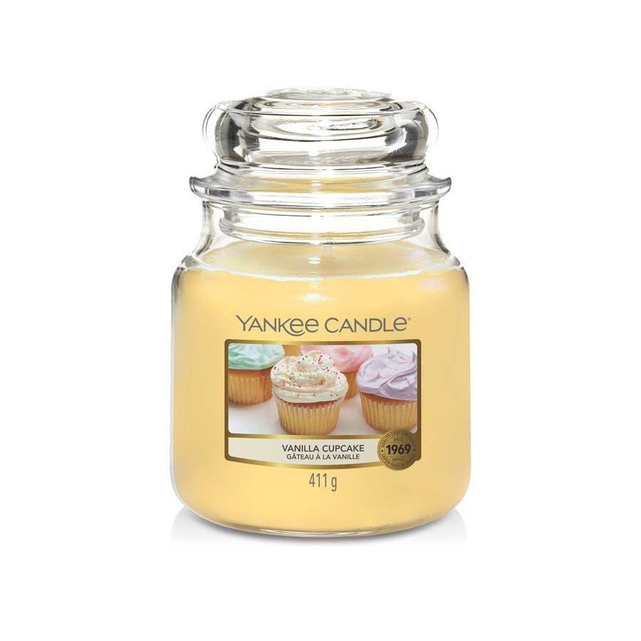 Yankee Candle Vanilla Cupcake vonná svíčka classic střední