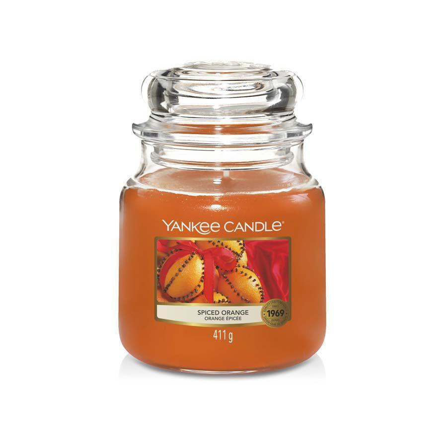 Yankee Candle Spiced Orange vonná svíčka classic střední