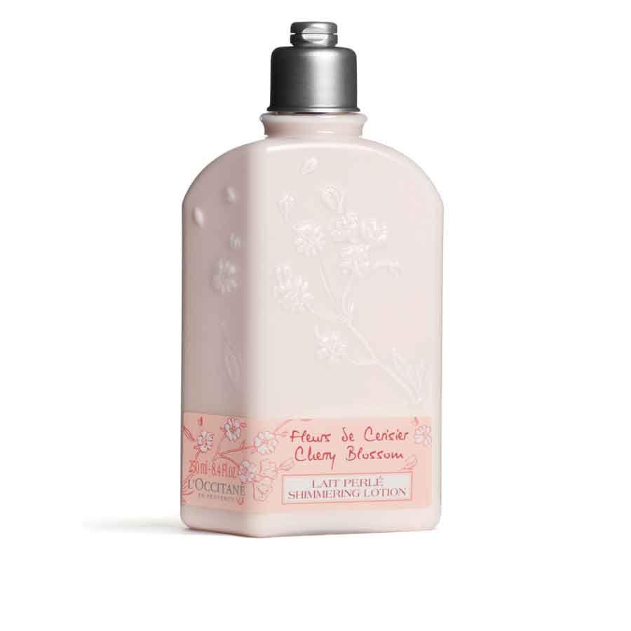 L'Occitane Třpytivé tělové mléko Třešňový Květ