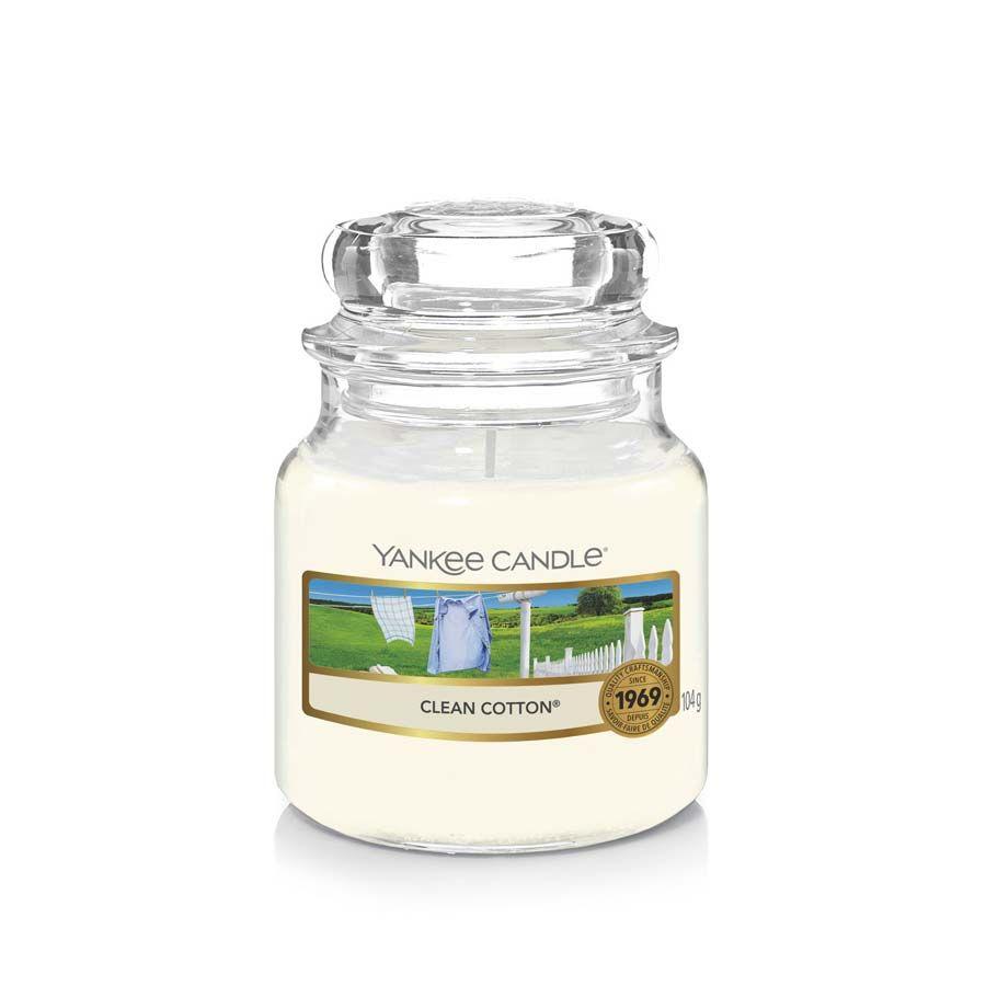 Yankee Candle Clean Cotton vonná svíčka classic malý