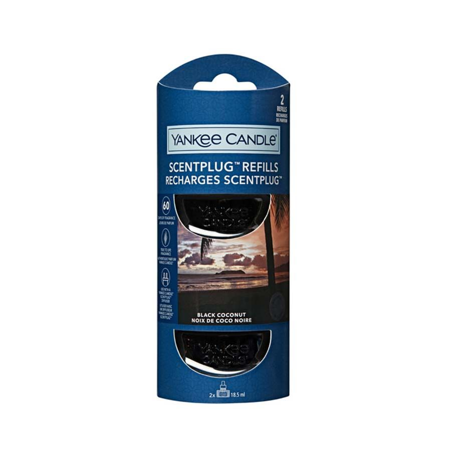 Yankee Candle Black Coconut náhradní náplň (2ks) pro vůni do elektrické zásuvky