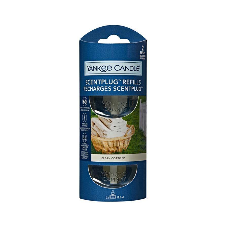 Yankee Candle Clean Cotton náhradní náplň (2ks) pro vůni do elektrické zásuvky