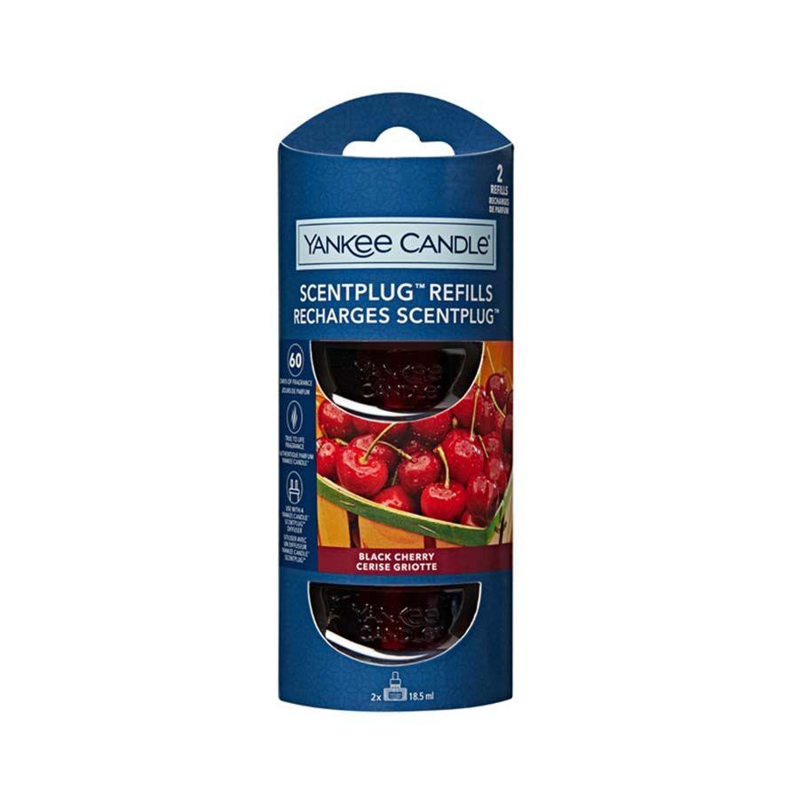 Yankee Candle Black Cherry náhradní náplň (2ks) pro vůni do elektrické zásuvky