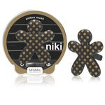 Mr & Mrs Fragrance Niki - puntík matná černá - Gold-Ambre musk (Anti tobacco)